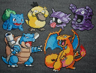 Pokemon in Perler Beads plus more awesome geeky patterns.