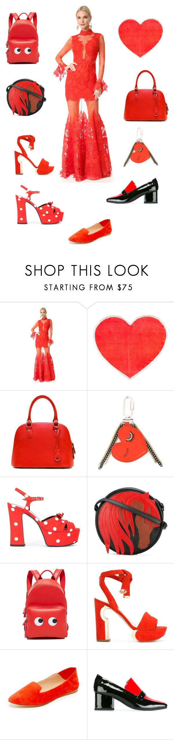 """looking garjious"" by emmamegan-5678 ❤ liked on Polyvore featuring Jonathan Simkhai, ban.do, Sonia by Sonia Rykiel, Yves Saint Laurent, Just Cavalli, Anya Hindmarch, Nicholas Kirkwood, Sigerson Morrison, Dorateymur and vintage"