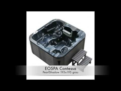"""Profi-Badshop - Ihr Profi für Ihr Badezimmer stellt Ihnen Außenwhrilpools von Eospa vor. In diesem Video zeigen wir Ihnen die Serie """"Contessa"""" mit Ihren verschiedenen Modellen an Farben. In unserem Online-Shop bieten wir Ihnen eine Vielzahl an Modellen von Außenwhirpools an: http://www.profi-badshop.de/wellness/aussenwhirlpools.html. Wir freuen uns wenn Sie vorbei schauen!"""