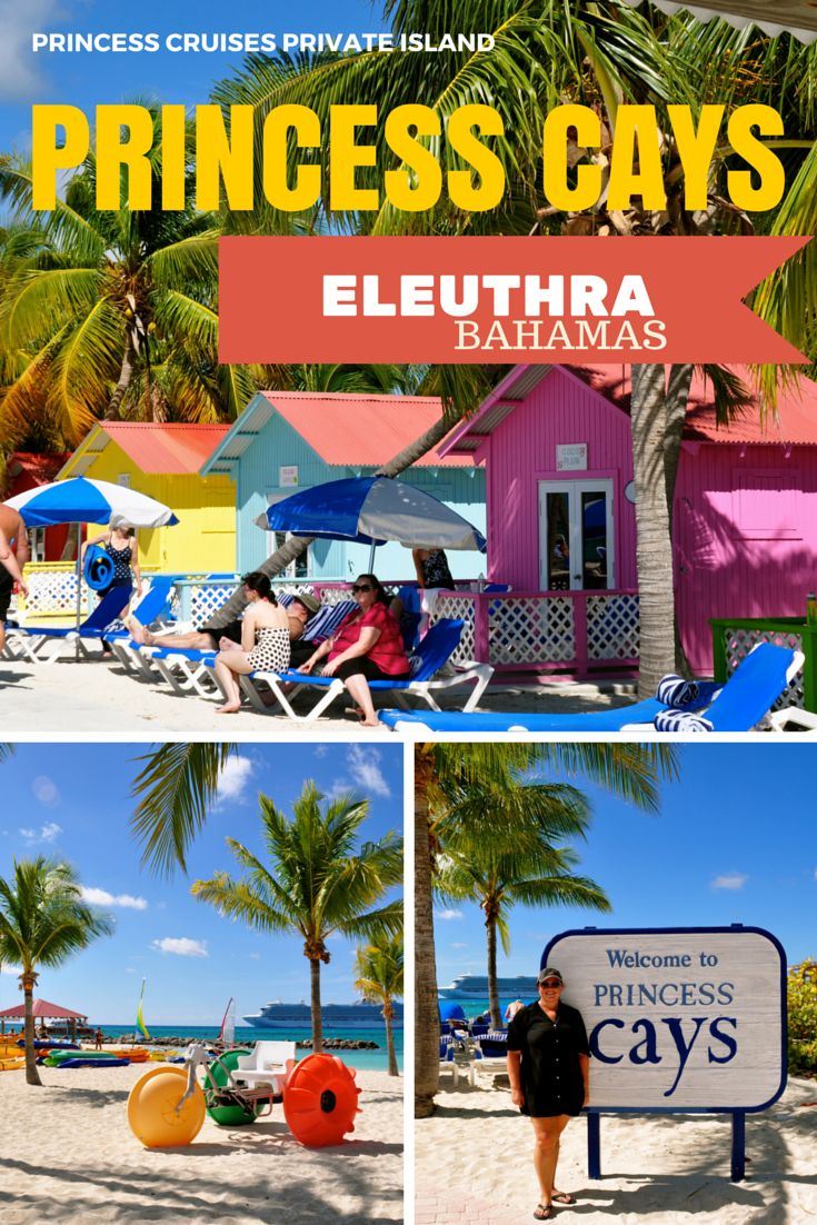 Princess Cays is the private beach on the island of Eleuthra, Bahamas, owned by the Princess Cruise Lines. Its beaches are spectacular and offer every known watersport imaginable.