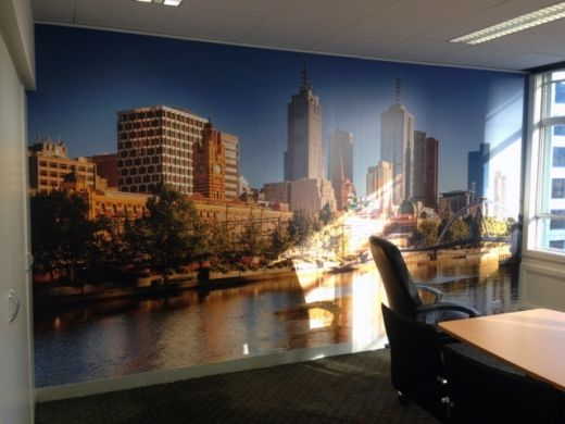 Chandler Services in Melbourne recently got in touch with Wallcreations to install a wall mural of Melbourne's skyline in their boardroom in the city. They were really happy with the results!