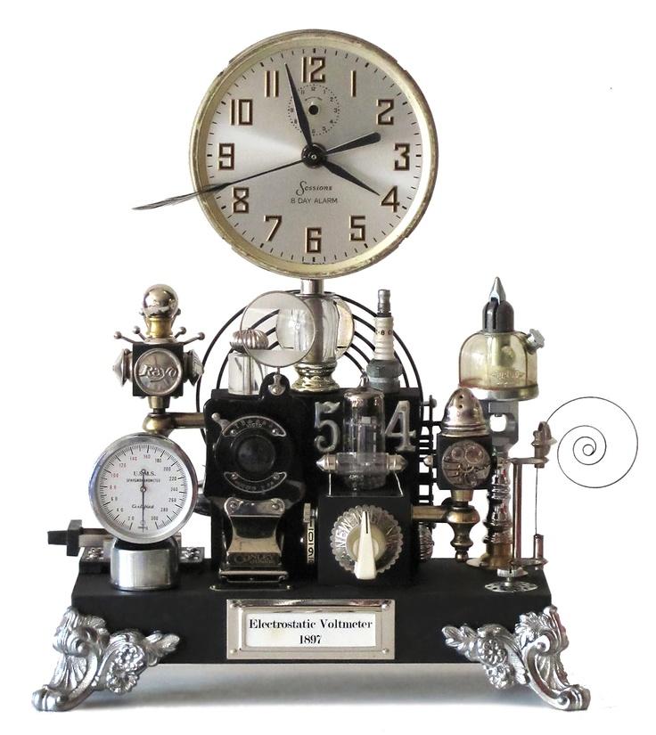 1000 images about steam punk on pinterest steam punk decks and mantle clock - Steampunk mantle clock ...