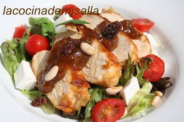 La Cocina De Mj Salla Pollo Con Salsa De Puerros Soja Y Miel Sobre Una Salsa De Puerros Pollo En Salsa Verduras Salteadas
