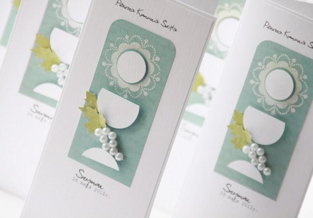 pretty communion cards