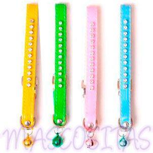 Collares STRASS Y CHAROL en 4 bonitos colores