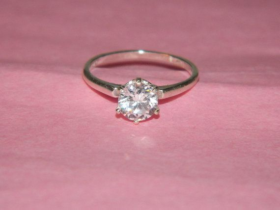 Simple promise ring size6  $49.00