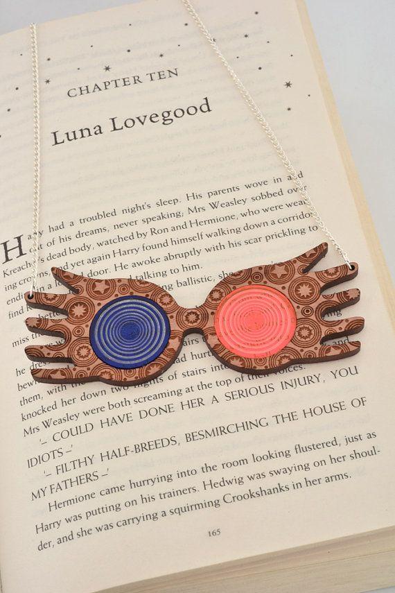 Gafas de sol de collar Luna Lovegood en Harry Potter por FoxParadox