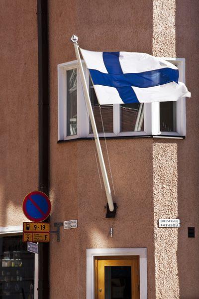 Flag day, Töölö, Helsinki, Finland