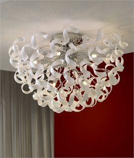 Cut Crystal Spiral Semi-Flush Light