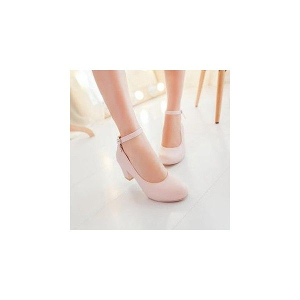 Ankle-Strap Block-Heel Pumps (49 CAD) ❤ liked on Polyvore featuring shoes, pumps, footware, colorful pumps, colorful shoes, multi-color pumps, multi color shoes and court shoes