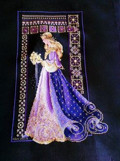 Lavender and Lace Celtic Ladies: Spring - on dramatic dark background