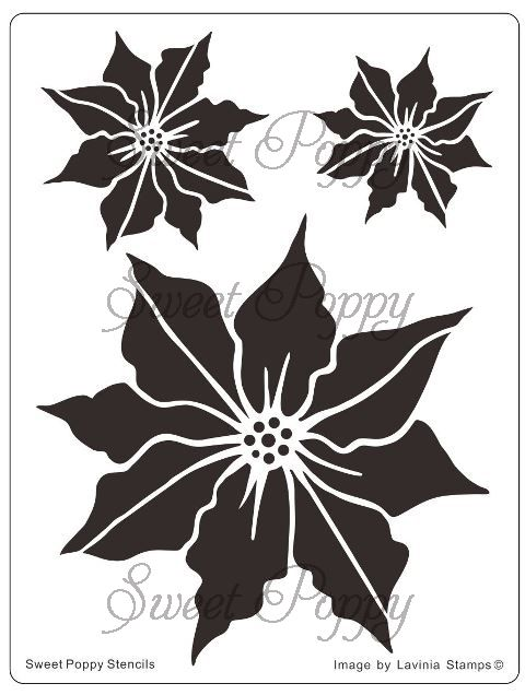 Sweet Poppy Stencil: Poinsettia (£8.99)