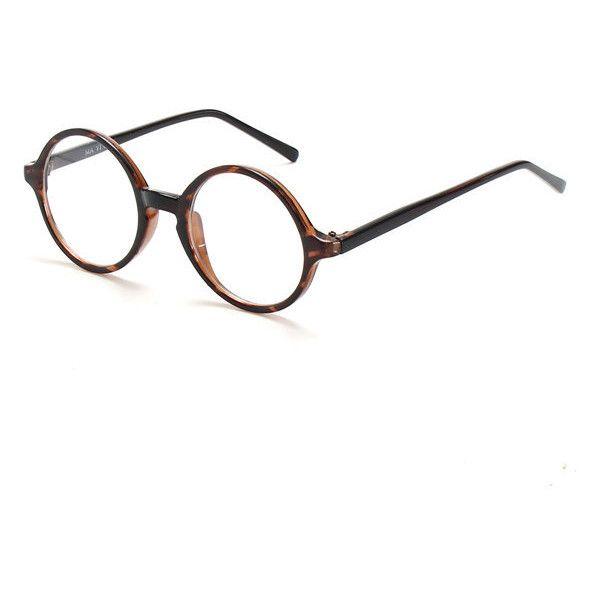 Unisex Vintage Round Eyeglass Frame Full-Rim Retro Glasses Optical... ($5.56) ❤ liked on Polyvore featuring accessories, eyewear, eyeglasses, round rim glasses, round glasses, clear round glasses, clear lens glasses and retro eyeglasses