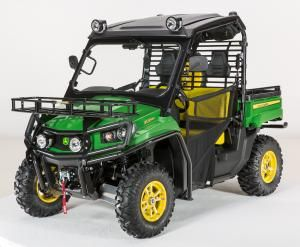 Spare Tire Carrier for Full-Size XUV Gator™ Utility Vehicles now available      For peace of mind when driving your Gator through rough terrain, John Deere offers a Spare Tire Carrier for full-size XUV Gator utility vehicles. Gator owners can easily mount a spare tire to the side of the cargo box with the John Deere spare tire kit. John Deere recommends carrying a spare front tire, as the tire's versatility allows it to be mounted on either the front or rear hubs.