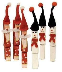 Decoración navideña de pinzas