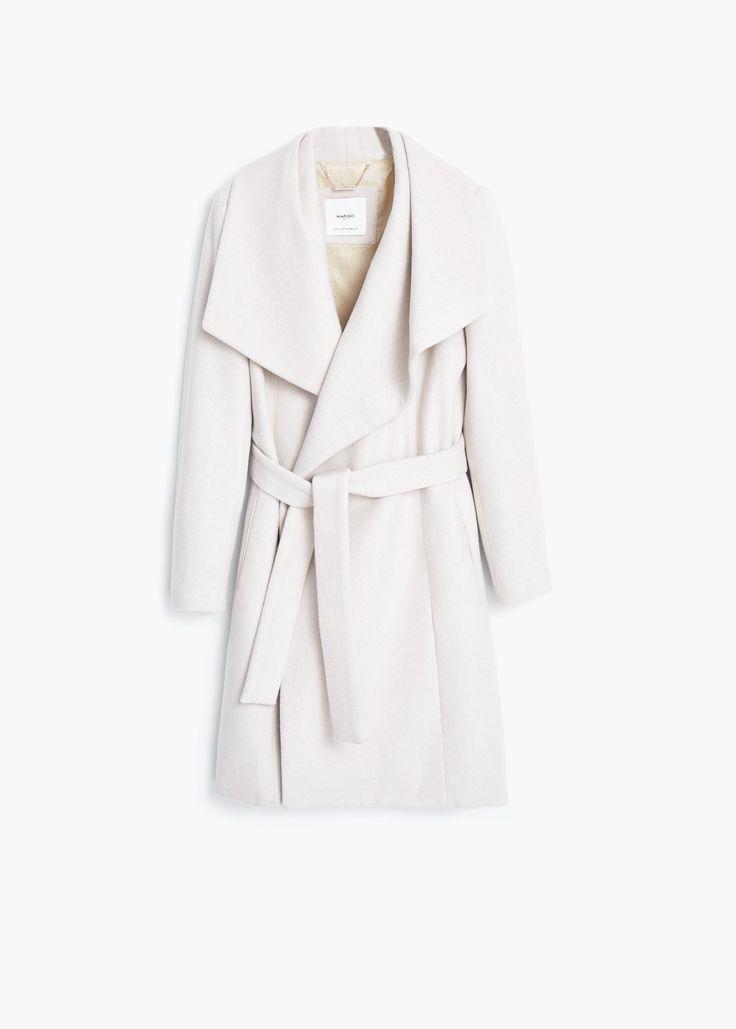 Wollen jas met revers