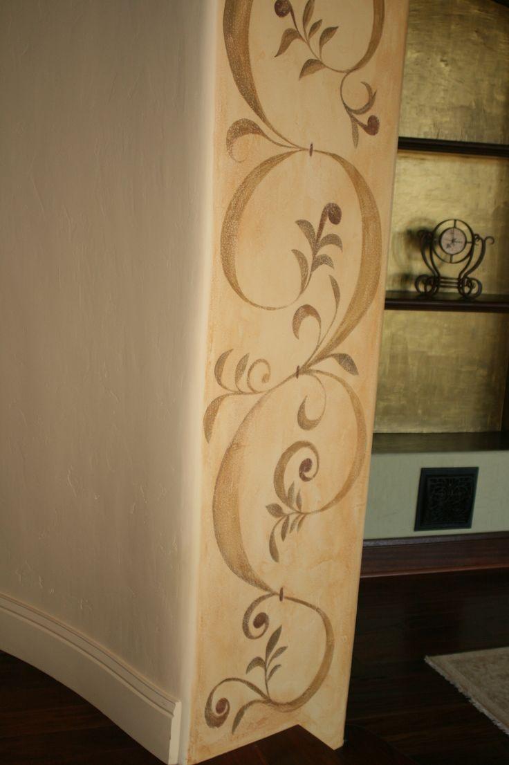 25 best faux painted walls ideas on pinterest faux for Window scroll function