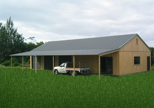 simple barn and accommodation structure