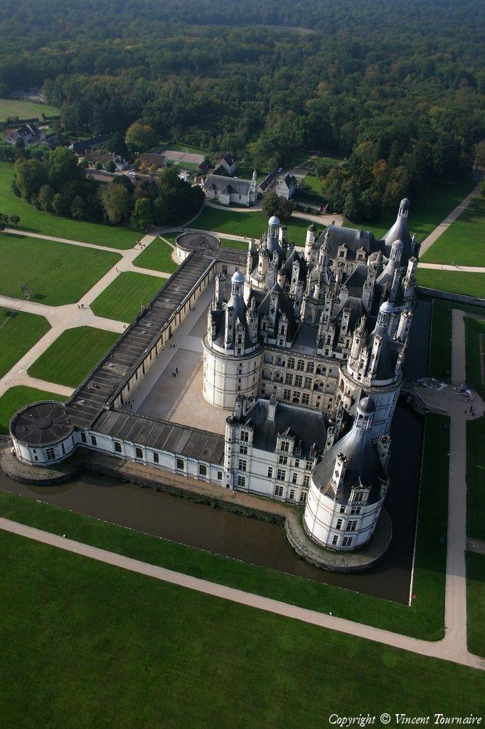 ✈️ Photo aérienne de Château de Chambord - Loir-et-Cher (41)