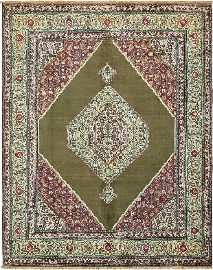 Olive 9 10 X 12 8 Tabriz Persian Rug Persian Rugs