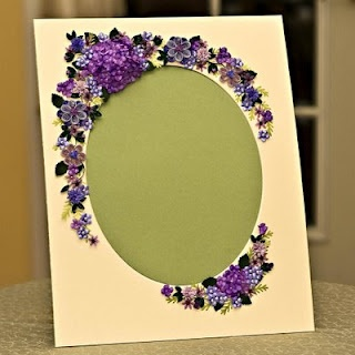Love this quilling on a mat to frame a special photo! ~ Appel Quilling