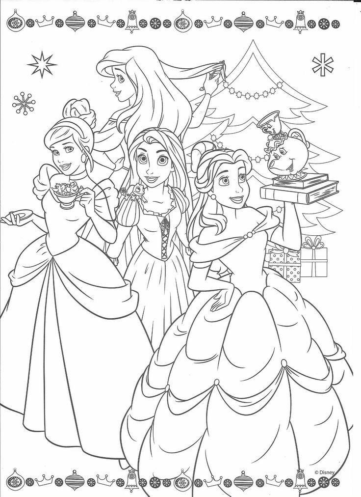 Disney Princess Christmas Coloring Pages Disney Princess Coloring Pages Disney Coloring Sheets Princess Coloring Pages