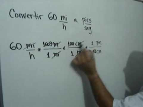 Conversión de unidades de rapidez: Julio Rios explica la conversión de un valor de Rapidez, de millas por hora a pies por segundo.