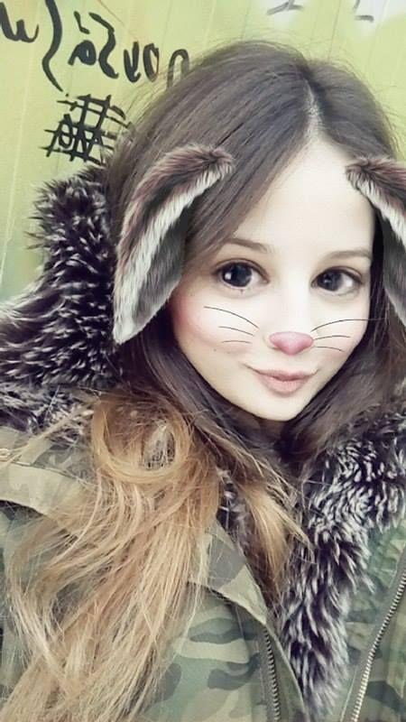 cute bunny snapchat filter <3