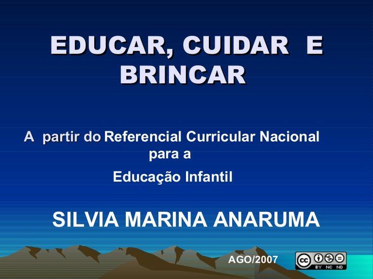 Trata-se de material para os curso de Licenciatura em Pedagogia sobre os conceitos de brincar, eucar e cuidar naEducação Infantil