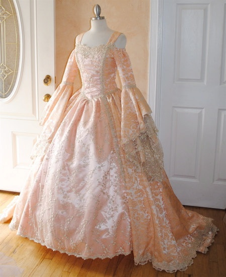 Gwendolyn Deluxe Fairy Princess Medieval Renaissance Gown Custom. $950.00, via Etsy.
