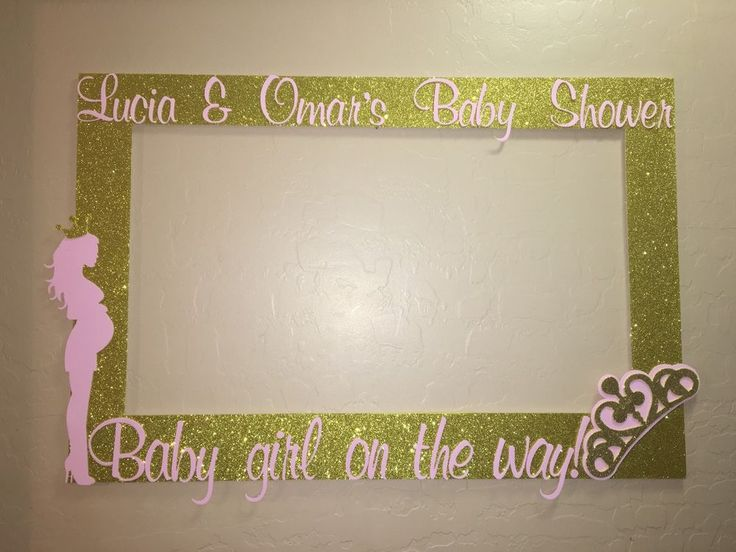 Pregnant Booth Frame To Take Pictures Royal, Princess Baby Shower Pink Gold