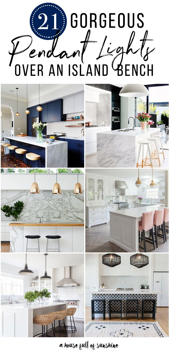 Here are 21 of the most beautiful kitchens on the internet featuring pendant lights over an island bench. Serious design inspiration coming your way! via @karenschrav