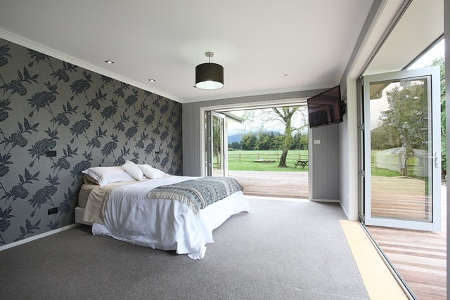 The open and airy master suite is among the clients' favourite features of the home.