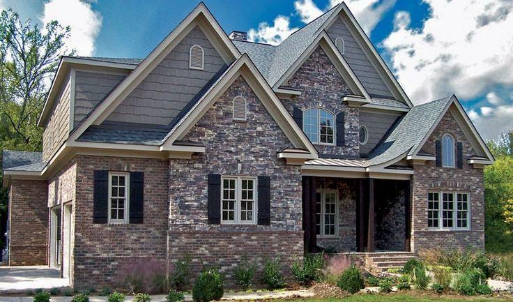 Craftsman House With Brick And Stone Brick Stone Brick