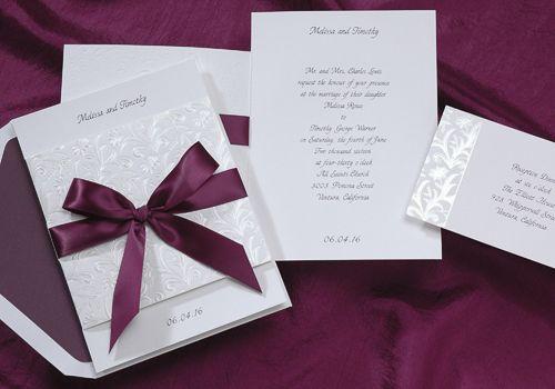 Wedding Invitations by Diamond Bridal Gallery