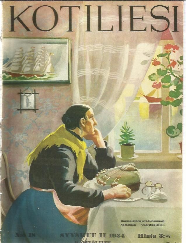 Kotiliesi 18/1934 ( Kansi Martta Wendelin )