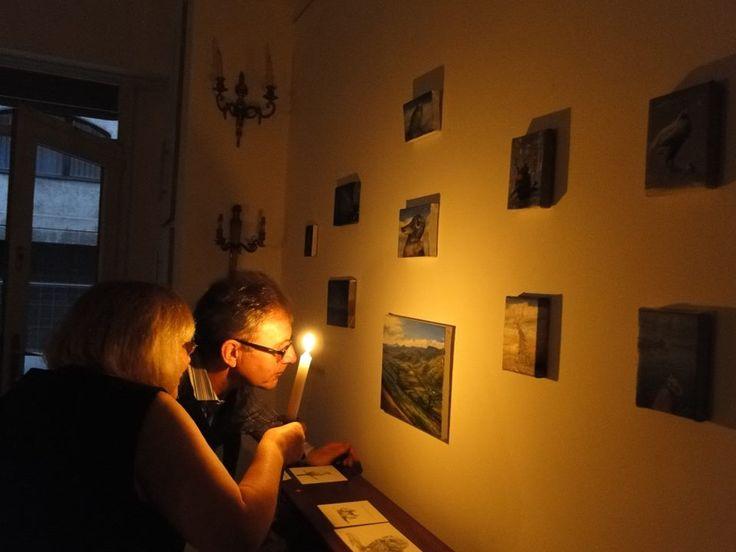 with Lance Hattatt at The Ari Kupsus Gallery, Budapest [2014].