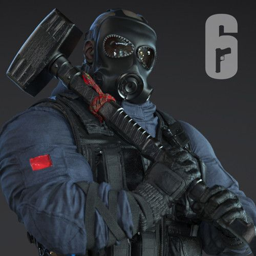 Sledge| SAS| Rainbow 6|Siege, J. Mark on ArtStation at https://www.artstation.com/artwork/ZPgkw