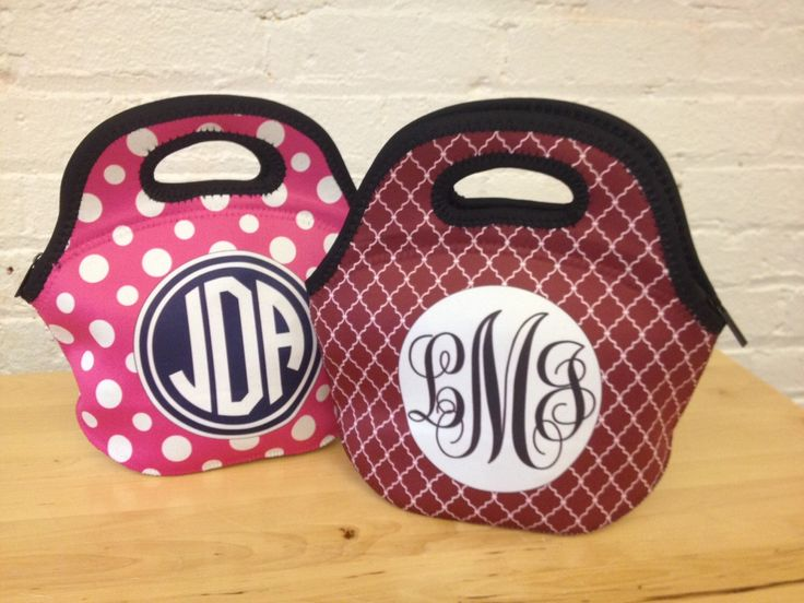 Lunch Tote Monogram - custom Design Your Own Insulated Lunch Bag with Vibrant Printed Patterns by RightOnTheWalls on Etsy https://www.etsy.com/listing/216095714/lunch-tote-monogram-custom-design-your