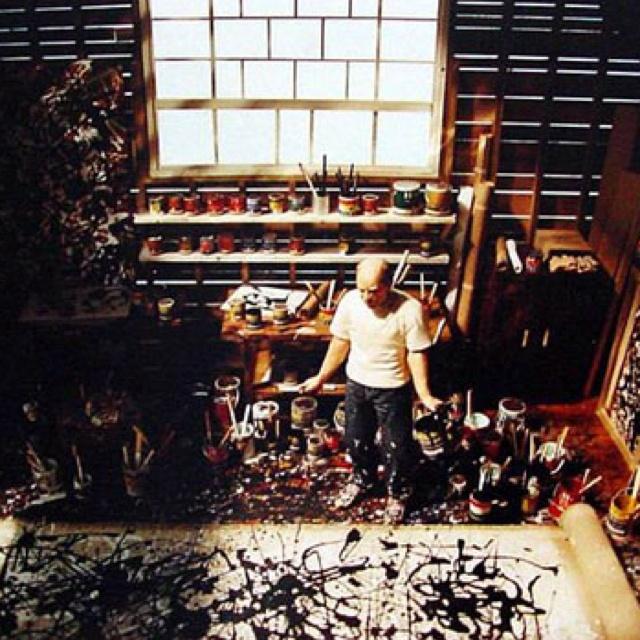 Jackson Pollack. Studio.