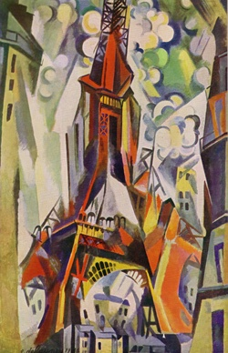 Robert Delaunay (1885-1941) was a French artist who, with his wife Sonia Delaunay and others, cofounded the Orphism art movement, noted for its use of strong colours and geometric shapes. His key influence related to bold use of colour, and a clear love of experimentation of both depth and tone.