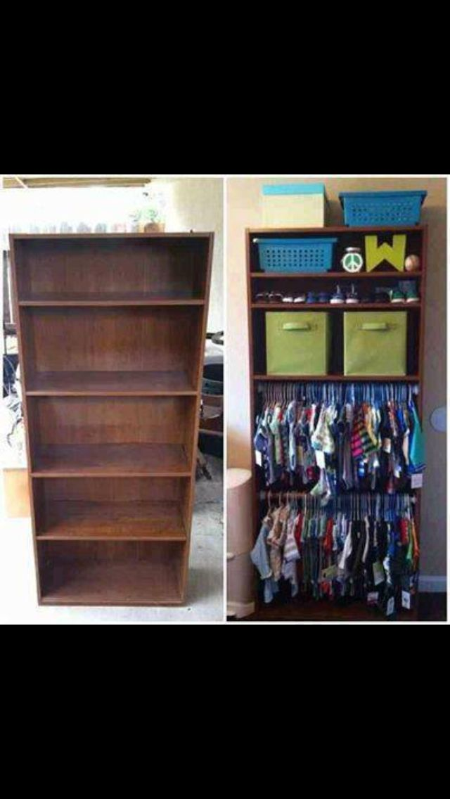 Cute idea for bedrooms with small closets.