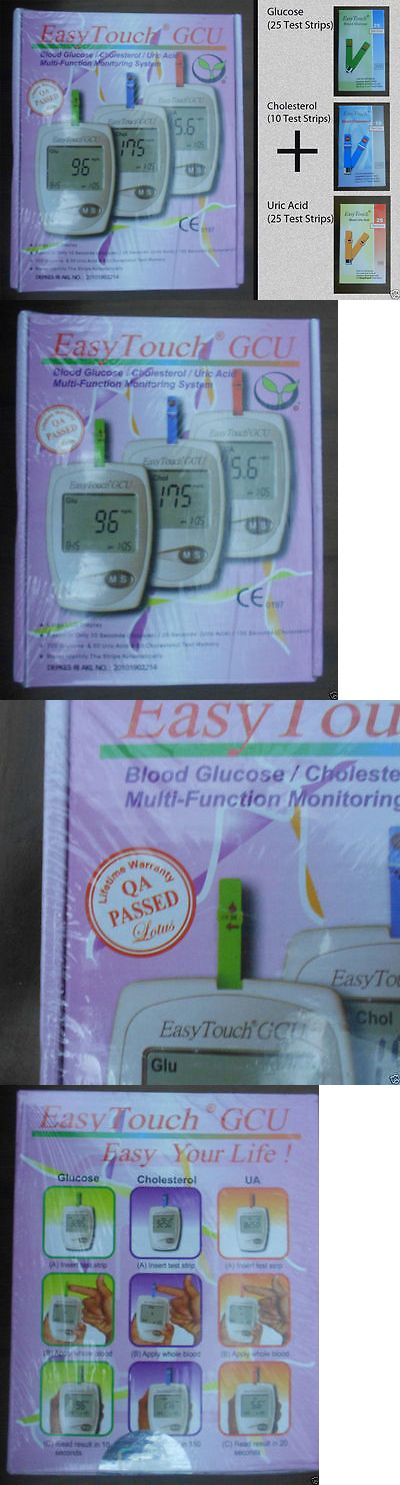 Cholesterol Testing: Easytouch For Glucose Cholesterol Uric Acid 3In1 Monitoring System + Test Strips BUY IT NOW ONLY: $93.9