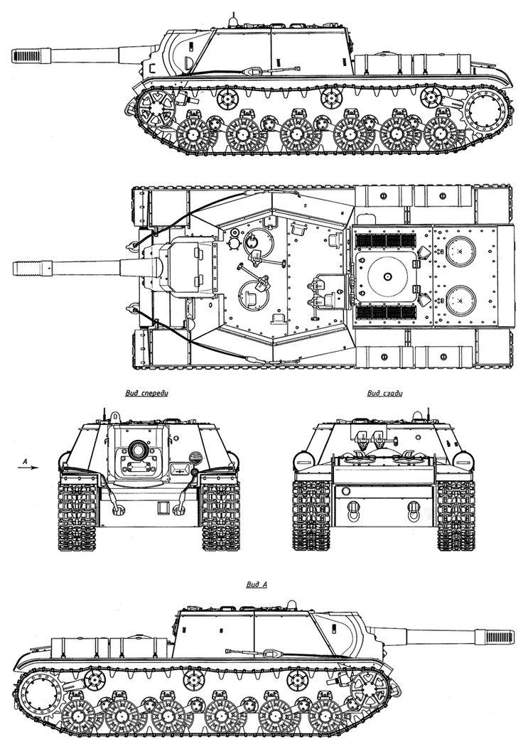 SU-152 blueprint