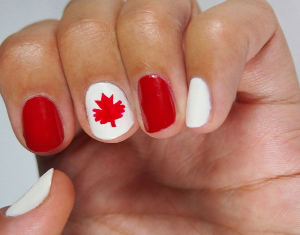 Canada Day nail art Alison