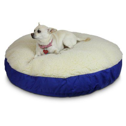 Snoozer Round Dog Bed with Sherpa Top