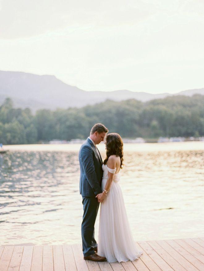 Gorgeous DIY lakeside wedding.