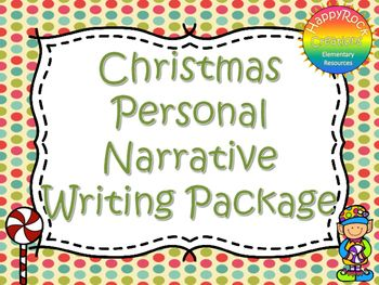 This Christmas Personal Narrative Writing Package includes a mini-lesson, graphic organizer (main idea and details), Christmas all Around Us 5 senses activity, personal narrative writing prompts, Christmas writing paper and a self-assessment checklist.