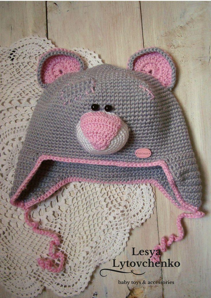 Kids Hats with Ear hat Kids hat Teddy Bear Hat Knit kids Bear Beanie Animal Hat Warm hat Kids Winter hat kids autumn kids gift babygirl by LytovchenkoWorkshop on Etsy