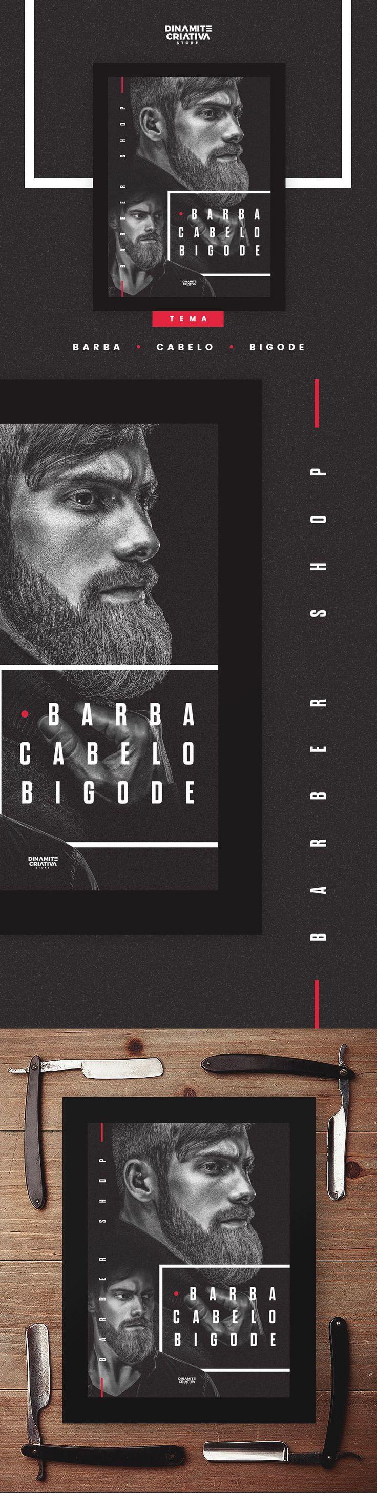 Barber Shop - Barba, Cabelo e Bigode - by Dinamite Criativa